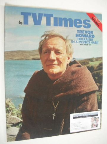 <!--1974-04-13-->TV Times magazine - Trevor Howard cover (13-19 April 1974)