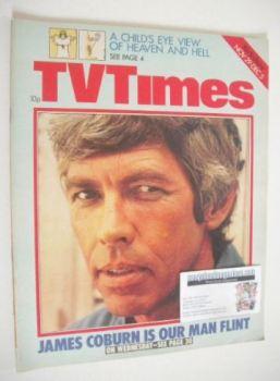 TV Times magazine - James Coburn cover (29 November - 5 December 1975)