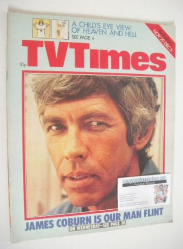 <!--1975-11-29-->TV Times magazine - James Coburn cover (29 November - 5 De