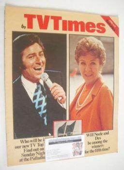 TV Times magazine - Des O'Connor and Noele Gordon cover (6-12 April 1974)