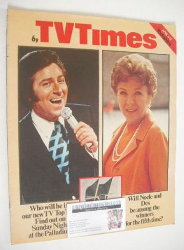 <!--1974-04-06-->TV Times magazine - Des O'Connor and Noele Gordon cover (6