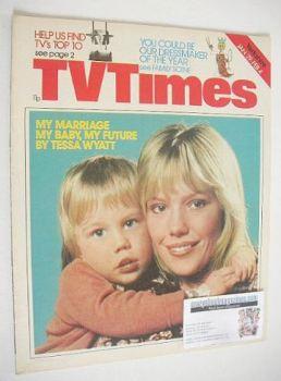 TV Times magazine - Tessa Wyatt cover (29 January - 4 February 1977)
