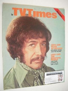 TV Times magazine - Peter Wyngarde cover (22-28 May 1971)