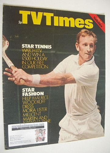 <!--1971-06-05-->TV Times magazine - Rod Laver cover (5-11 June 1971)