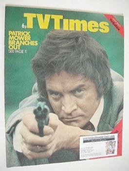 TV Times magazine - Patrick Mower cover (23-29 March 1974)