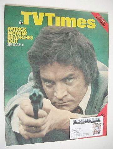 <!--1974-03-23-->TV Times magazine - Patrick Mower cover (23-29 March 1974)