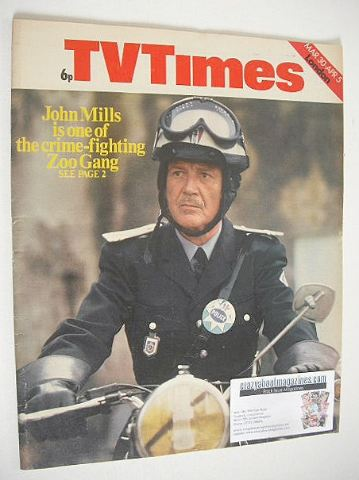 <!--1974-03-30-->TV Times magazine - John Mills cover (30 March - 5 April 1
