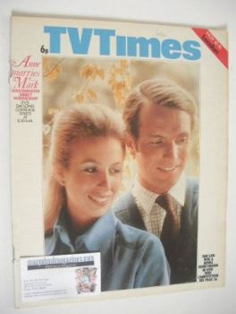 TV Times magazine - Princess Anne & Mark Phillips cover (10-16 November 1973)