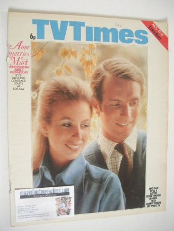 <!--1973-11-10-->TV Times magazine - Princess Anne & Mark Phillips cover (1