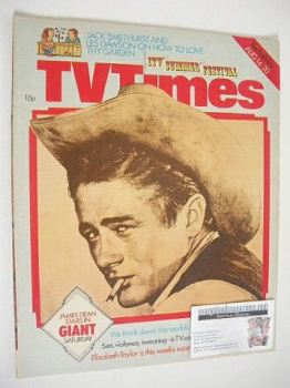 TV Times magazine - James Dean cover (14-20 August 1976)