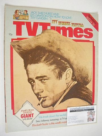 <!--1976-08-14-->TV Times magazine - James Dean cover (14-20 August 1976)