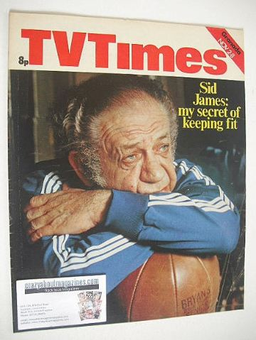 <!--1974-11-02-->TV Times magazine - Sid James cover (2-8 November 1974)