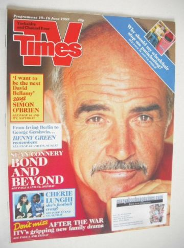 <!--1989-06-10-->TV Times magazine - Sean Connery cover (10-16 June 1989)