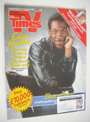 <!--1988-08-13-->TV Times magazine - Eddie Murphy cover (13-19 August 1988)