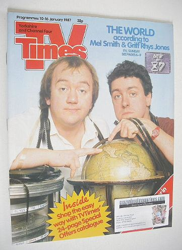 <!--1987-01-10-->TV Times magazine - Mel Smith and Griff Rhys Jones cover (