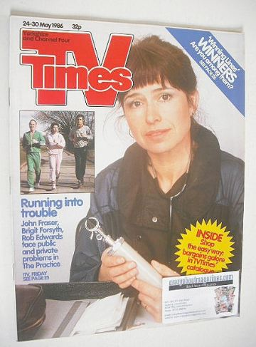 <!--1986-04-24-->TV Times magazine - Brigit Forsyth cover (24-30 May 1986)