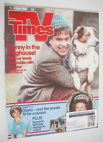 <!--1986-04-12-->TV Times magazine - Paul Henry cover (12-18 April 1986)
