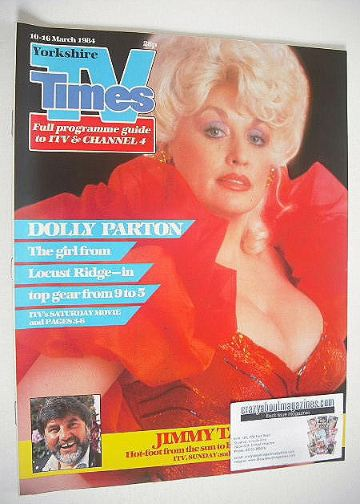 <!--1984-03-10-->TV Times magazine - Dolly Parton cover (10-16 March 1984)