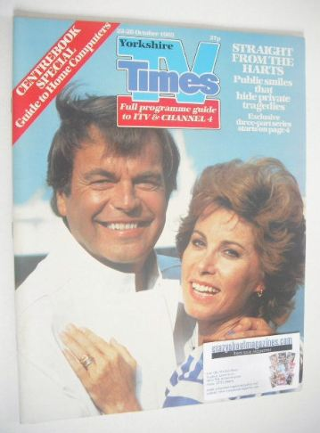 <!--1983-10-28-->TV Times magazine - Robert Wagner and Stefanie Powers cove