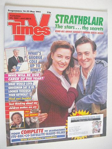<!--1992-05-16-->TV Times magazine - Strathblair cover (16-22 May 1992)