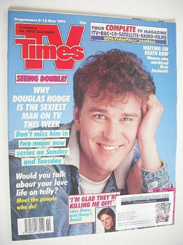 <!--1992-05-09-->TV Times magazine - Douglas Hodge cover (9-15 May 1992)
