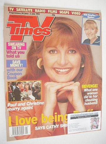 <!--1993-06-26-->TV Times magazine - Cathy Shipton cover (26 June - 2 July