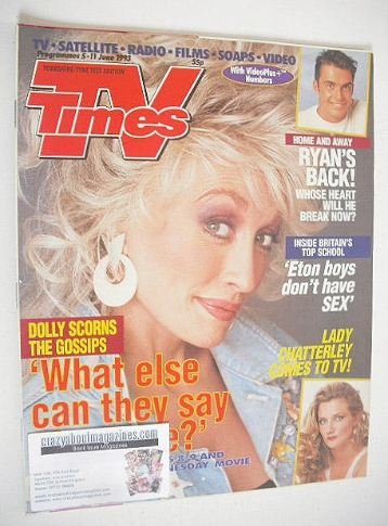 <!--1993-06-05-->TV Times magazine - Dolly Parton cover (5-11 June 1993)