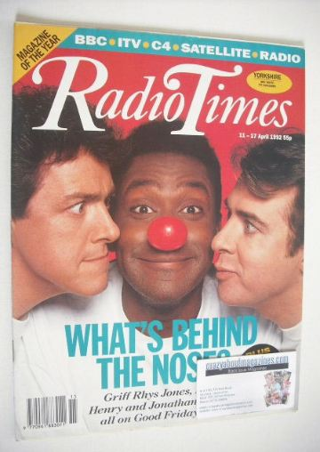 <!--1992-04-11-->Radio Times magazine - Griff Rhys Jones, Lenny Henry and J