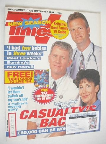 <!--1994-09-17-->TV Times magazine - Casualty cover (17-23 September 1994)