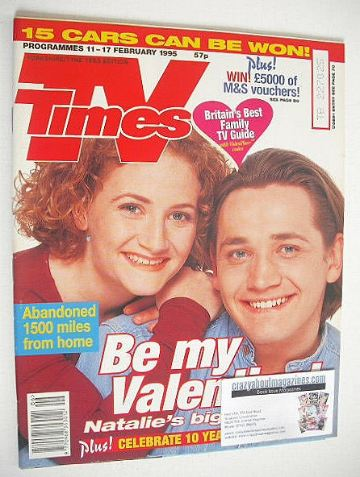 <!--1995-02-11-->TV Times magazine - Sid Owen and Lucy Speed cover (11-17 F
