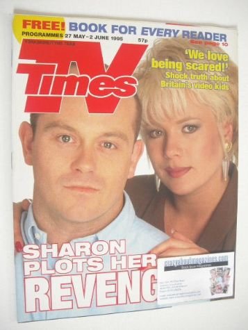 <!--1995-05-27-->TV Times magazine - Ross Kemp and Letitia Dean cover (27 M