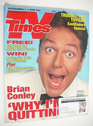 <!--1995-06-03-->TV Times magazine - Brian Conley cover (3-9 June 1995)