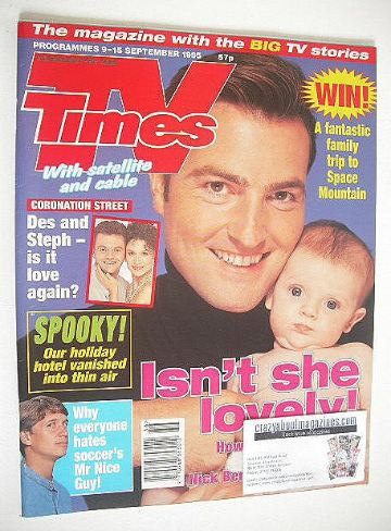<!--1995-09-09-->TV Times magazine - Nick Berry cover (9-15 September 1995)