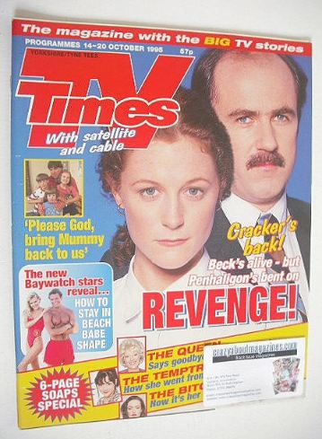 <!--1995-10-14-->TV Times magazine - Cracker cover (14-20 October 1995)