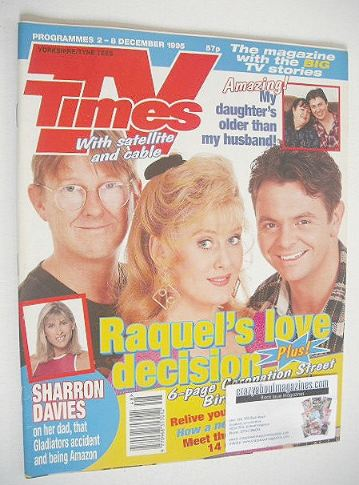 <!--1995-12-02-->TV Times magazine - Raquel's Love Decision cover (2-8 Dece