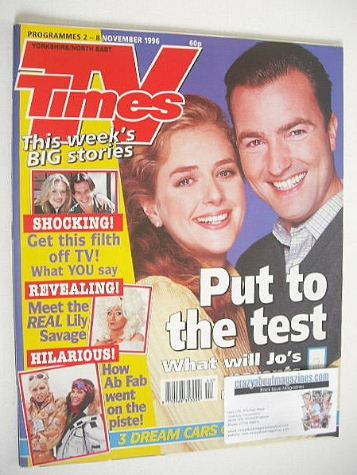 <!--1996-11-02-->TV Times magazine - Juliette Gruber & Nick Berry cover (2-