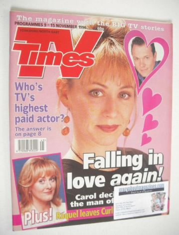 <!--1996-11-09-->TV Times magazine - Lindsey Coulson cover (9-15 November 1