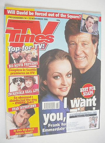<!--1996-11-16-->TV Times magazine - Norman Bowler & Jacqueline Pirie cover