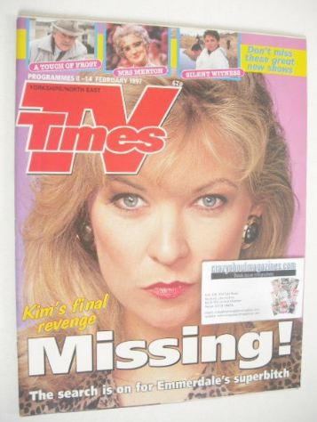 <!--1997-02-08-->TV Times magazine - Claire King cover (8-14 February 1997)