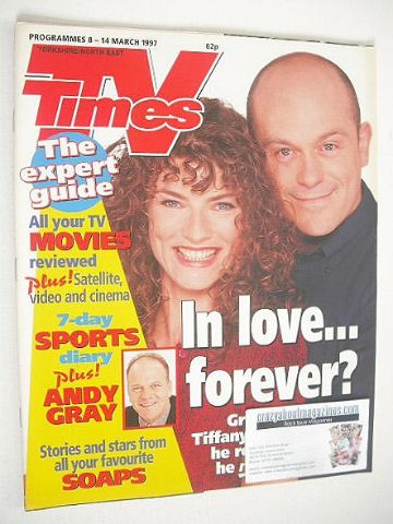 <!--1997-03-08-->TV Times magazine - Jacqueline Leonard & Ross Kemp cover (