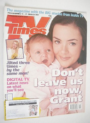 <!--1997-03-15-->TV Times magazine - Martine McCutcheon cover (15-21 March