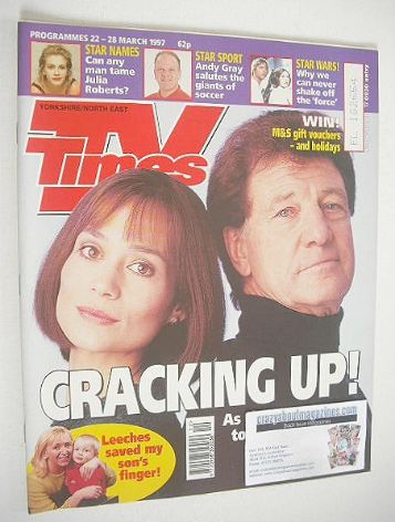 <!--1997-03-22-->TV Times magazine - Norman Bowler & Leah Bracknell cover (
