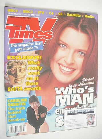 <!--1997-05-10-->TV Times magazine - Tina Hobley cover (10-16 May 1997)