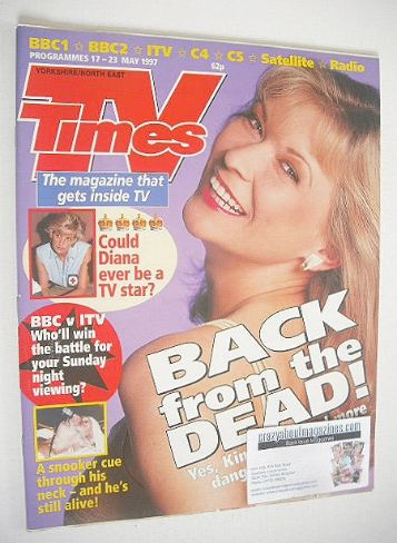 <!--1997-05-17-->TV Times magazine - Claire King cover (17-23 May 1997)
