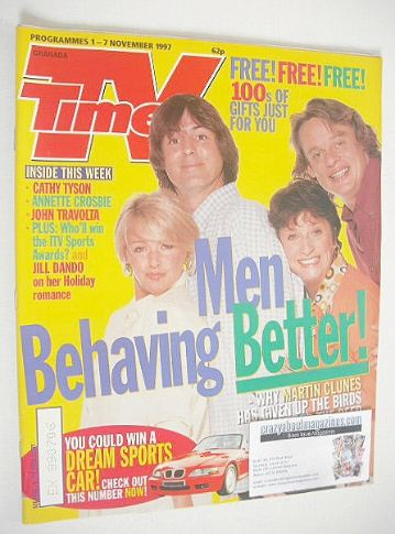 <!--1997-11-01-->TV Times magazine - Men Behaving Badly cover (1-7 November