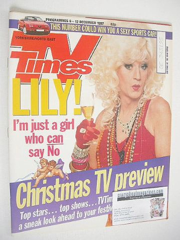 <!--1997-12-06-->TV Times magazine - Lily Savage / Paul O'Grady cover (6-12