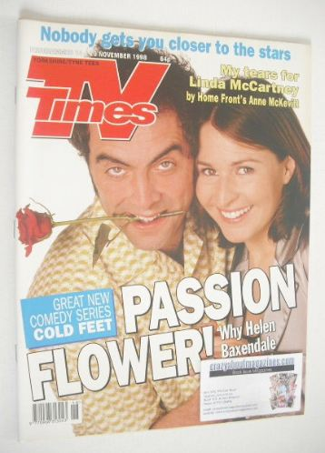 <!--1998-11-14-->TV Times magazine - Cold Feet cover (14-20 November 1998)