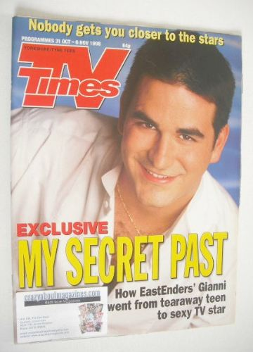<!--1998-10-31-->TV Times magazine - Marc Bannerman cover (31 October - 6 N