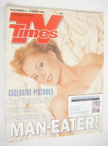 <!--1998-08-08-->TV Times magazine - Sally Whittaker cover (8-14 August 199