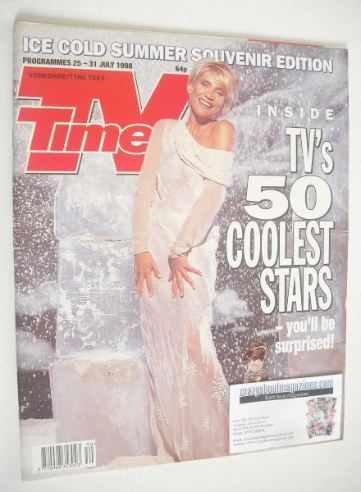 <!--1998-07-25-->TV Times magazine - Michelle Collins cover (25-31 July 199